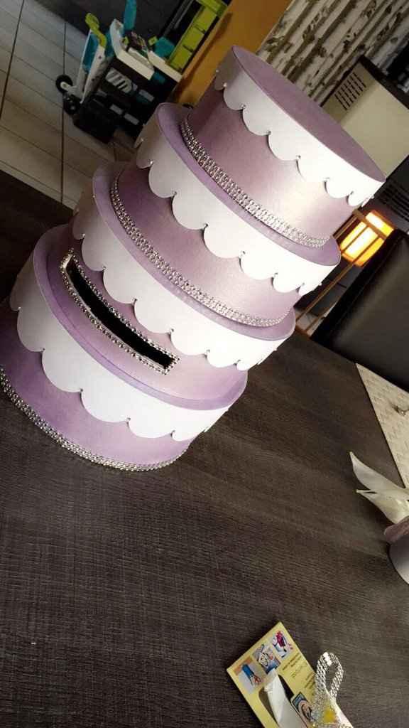 Diy en cours, urne wedding cake - 1