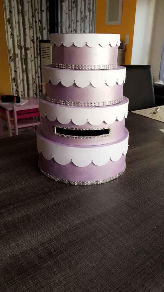 Diy en cours, urne wedding cake - 2