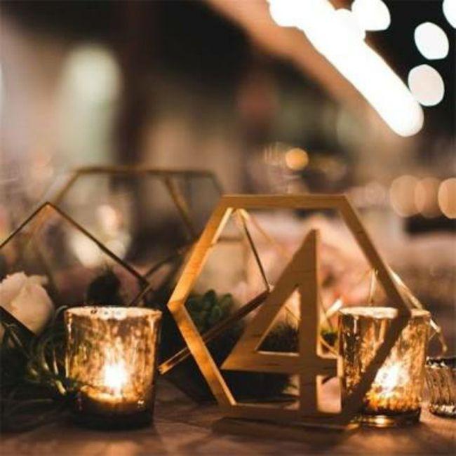 Numéro/Nom de table mariage 9
