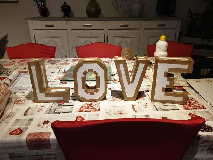diy lettres love - 1