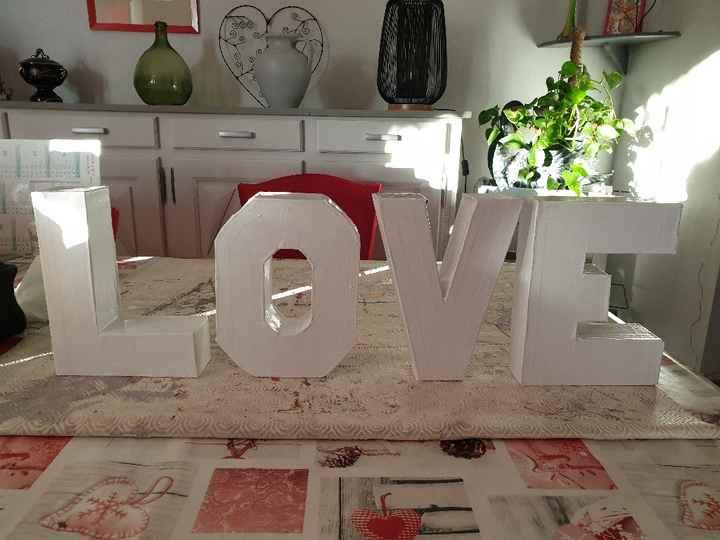 diy lettres love - 2