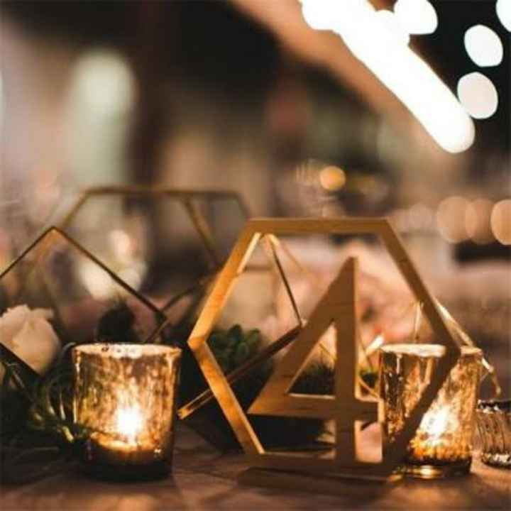 Numéro/Nom de table mariage - 1