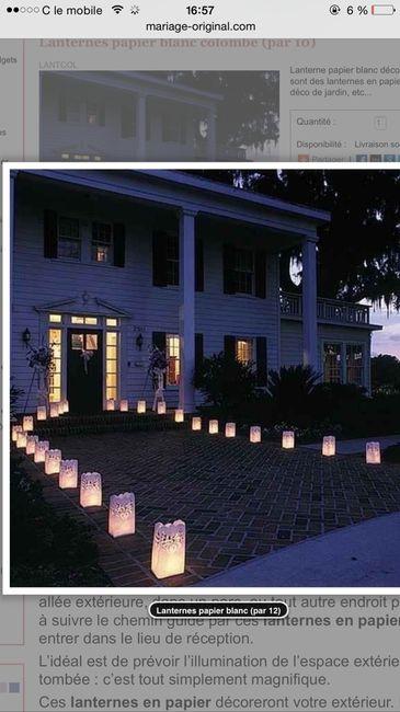 Lanternes au sol  - 1