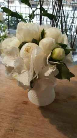 bouquet mariée: hortensia et pivoine