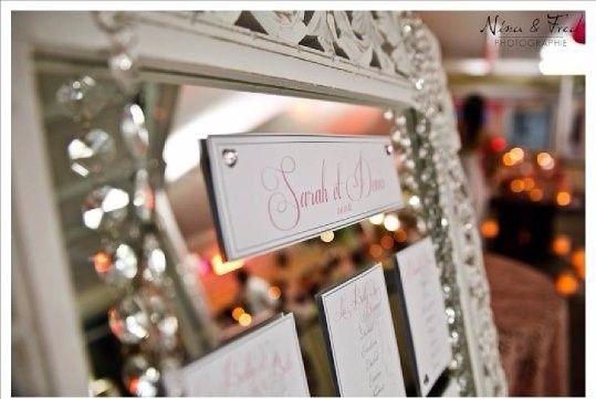 Miroir plan de table