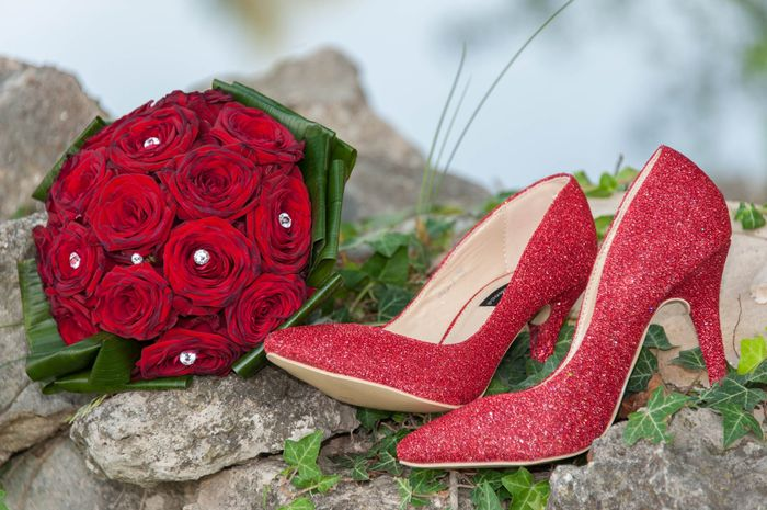 Bouquet roses rouges strass