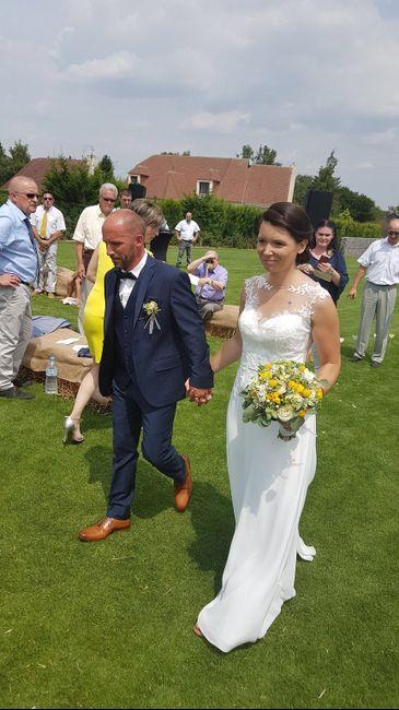 Mariage blanc beige et jaune - 4