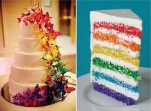 Wedding cake arc-en-ciel