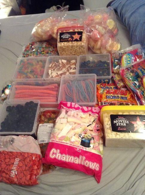 Mes bonbons pour mon candy bar