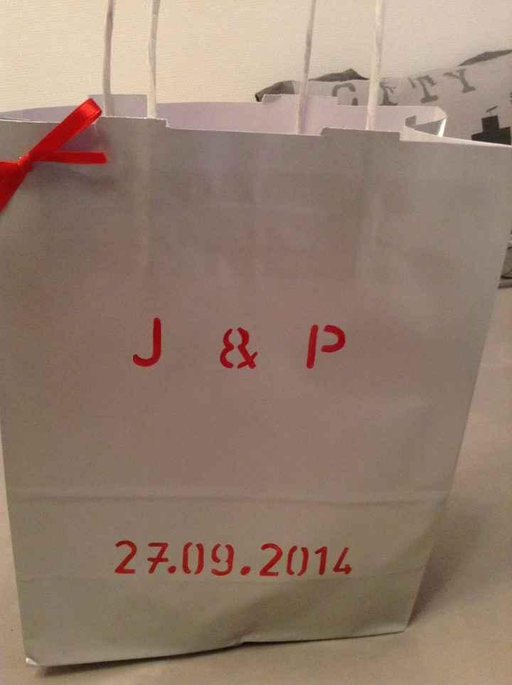 Mes wedding bag