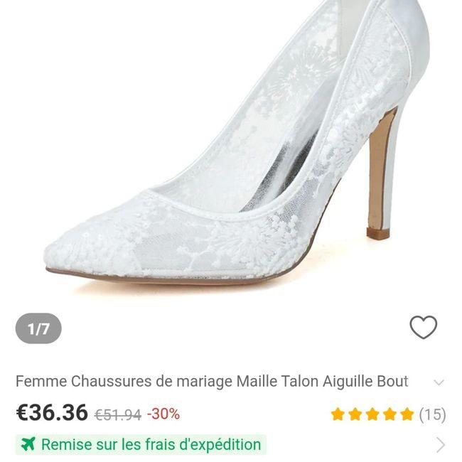 Chaussure reçue enfin .... 2
