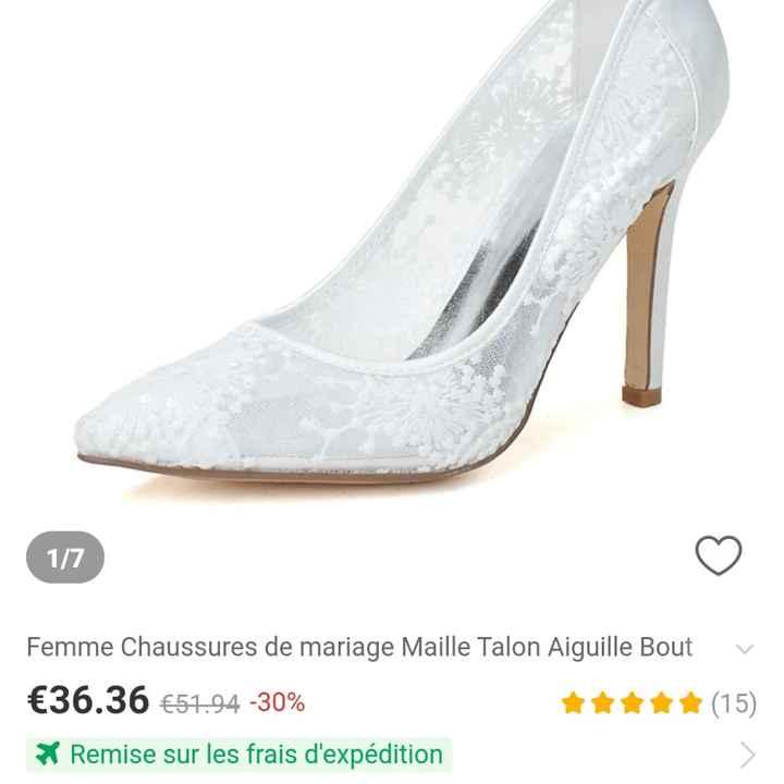 Chaussure reçue enfin .... - 1