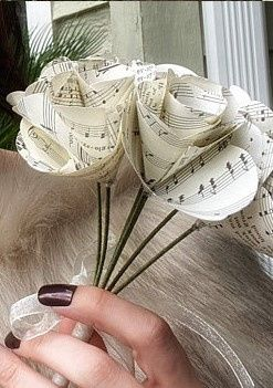 Bouquet de Mariée origami 1