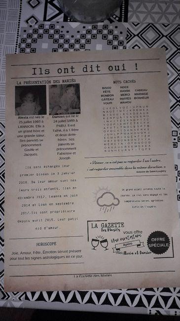 Gazette des mariés 3