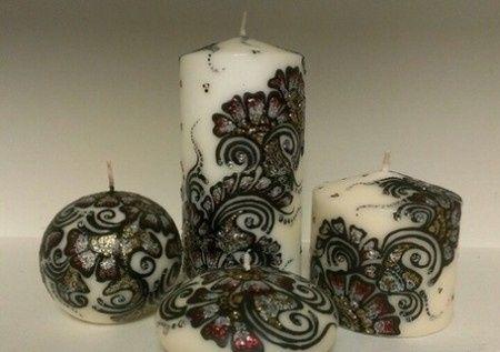 Set de bougies aux hénné