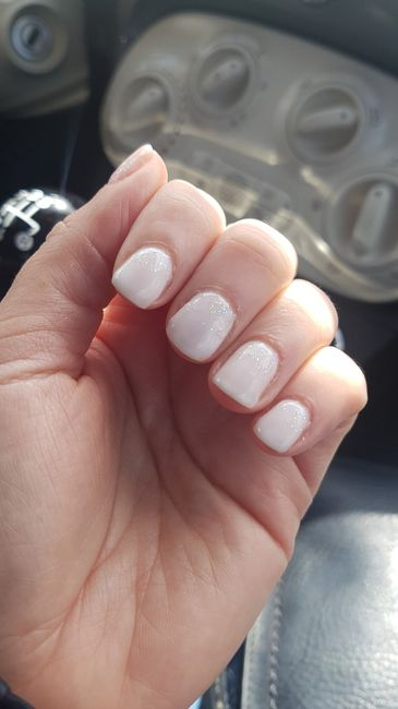 Ongle mariage pour ongles courts! - 2