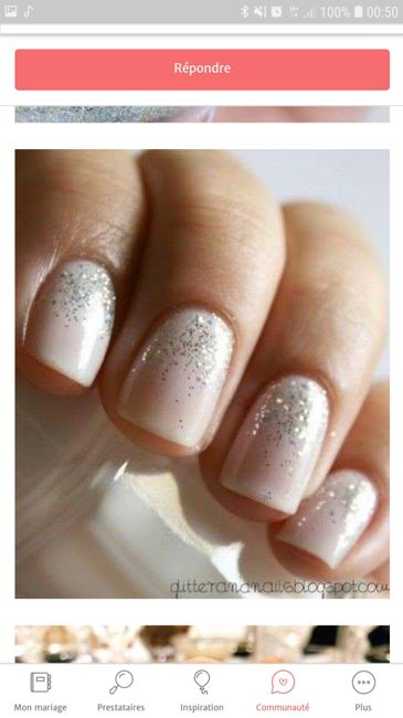 Ongle mariage pour ongles courts! - 3