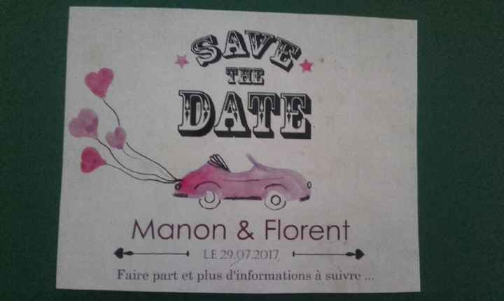 """Création du jour """" save the date """" - 1"""