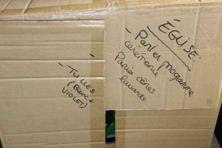 marquage des cartons pour plus de facilité