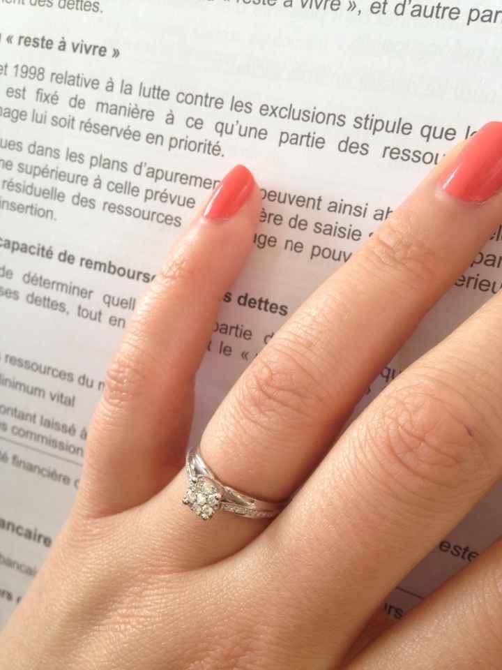 Ma bague de fiançailles :)