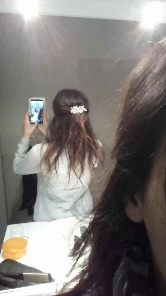 Essai dans mes cheveux