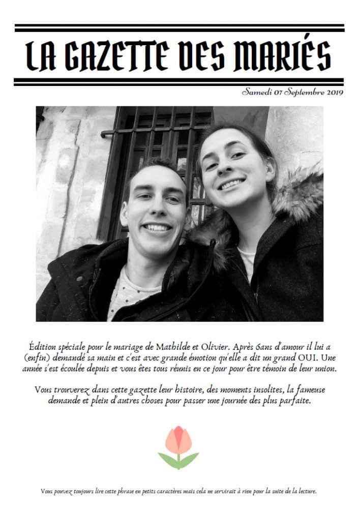 La gazette des mariés - 1