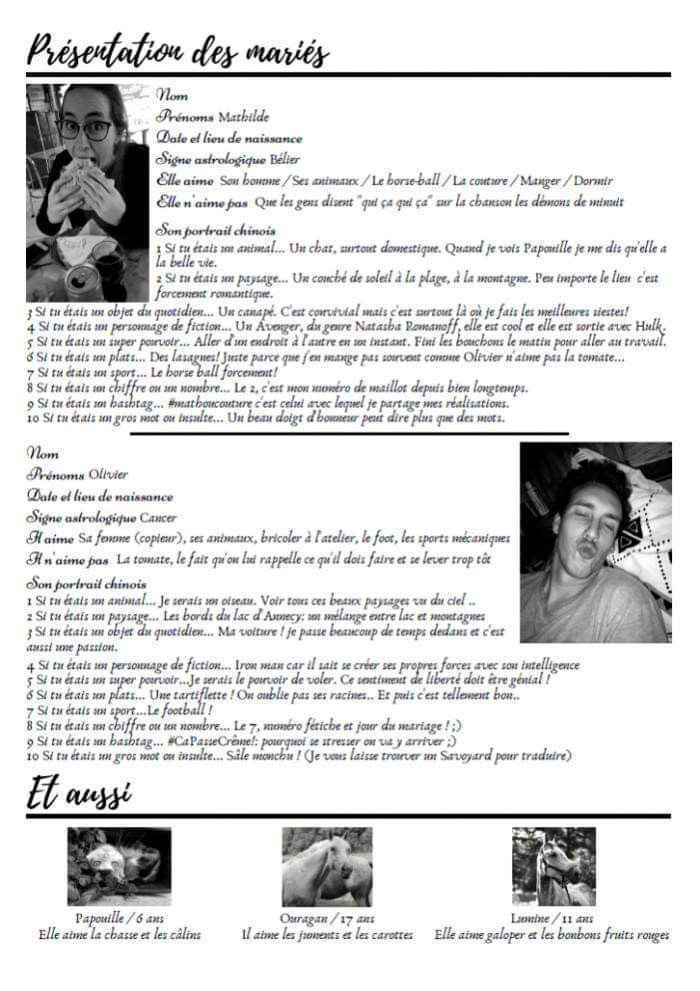 La gazette des mariés - 2