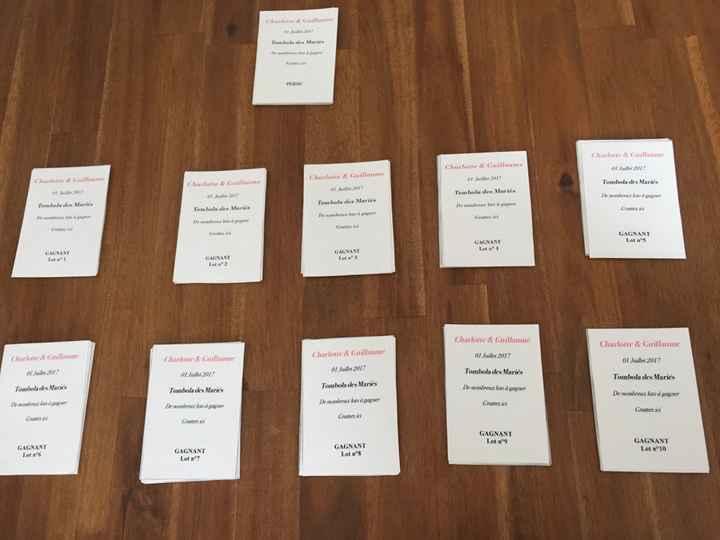 Nos tickets de tombola 😆 - 1