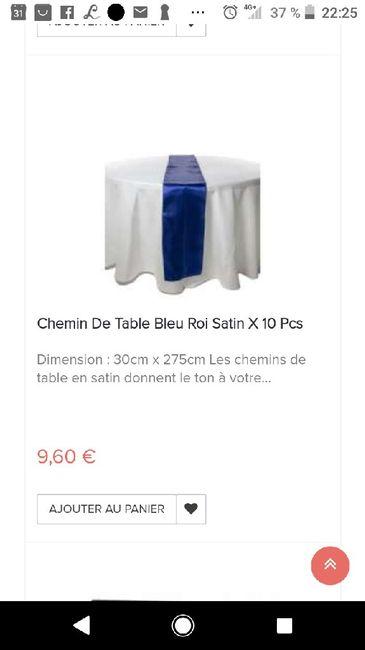 Chemin de table bleu roi - 1