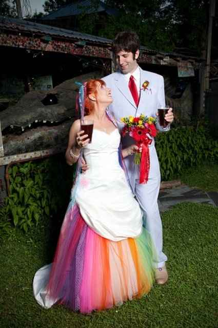 Les robes de mariées colorées - 1