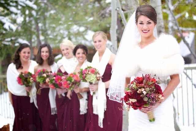 La mariée avec ses DH!