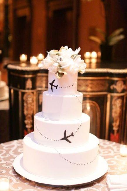 Même si la c'est présenté sur un wedding cake
