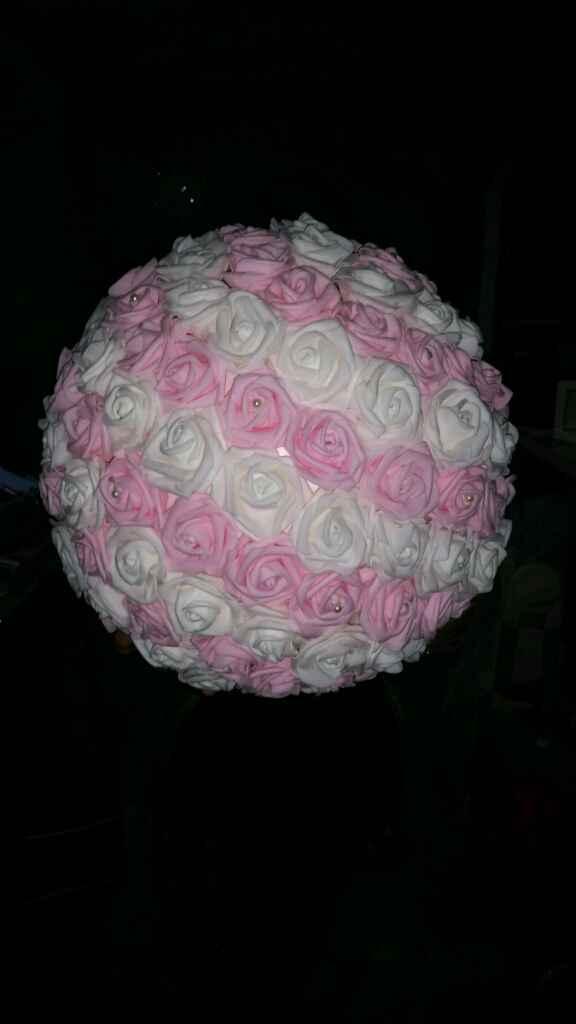 Boule de fleurs artificielles aliexpress - 1
