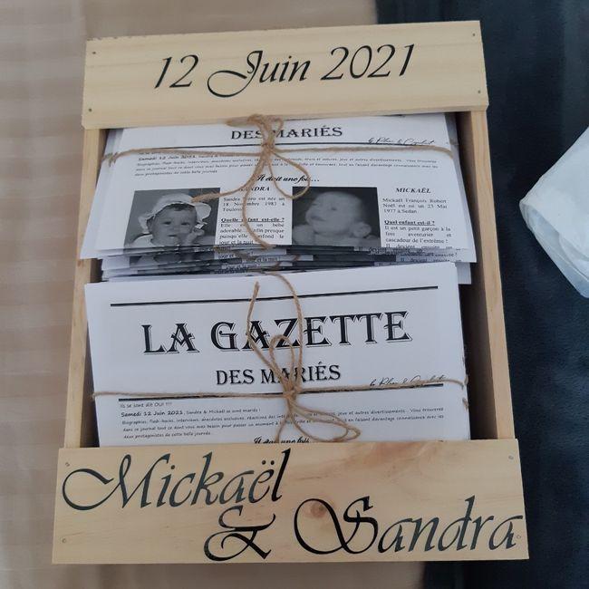 Gazette de mariés avis plume et coquelicots 7