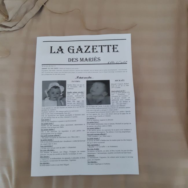 Gazette de mariés avis plume et coquelicots 8
