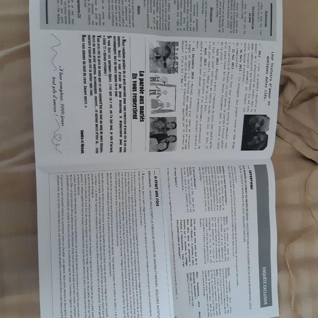 Gazette de mariés avis plume et coquelicots 9