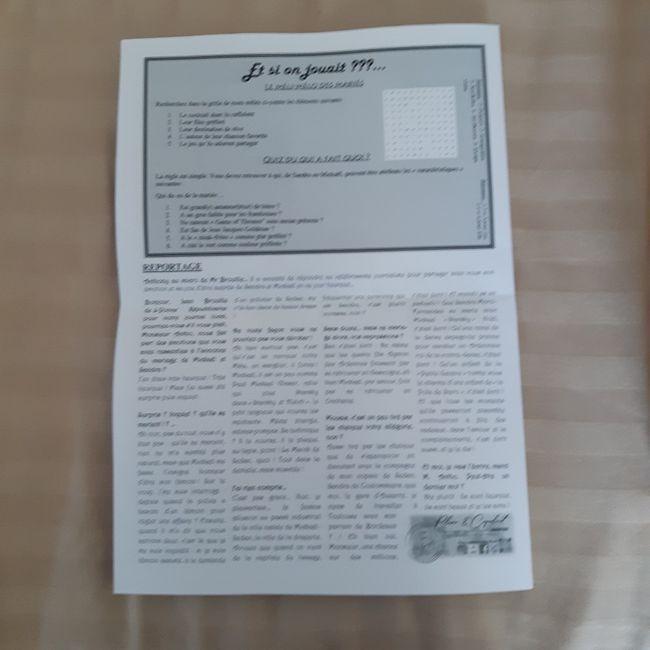Gazette de mariés avis plume et coquelicots 6