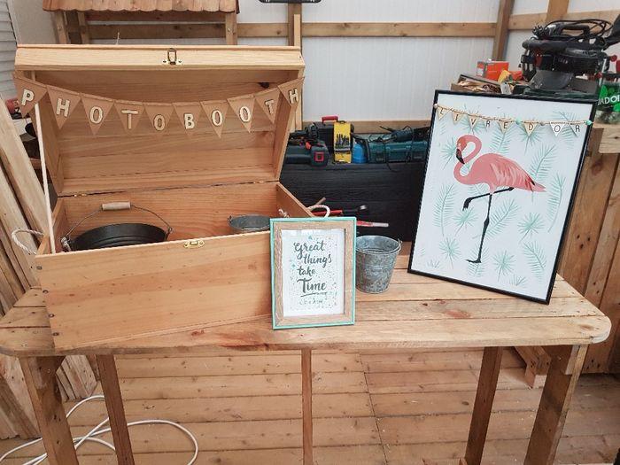 Installation urne, photobooth et livre d or 1