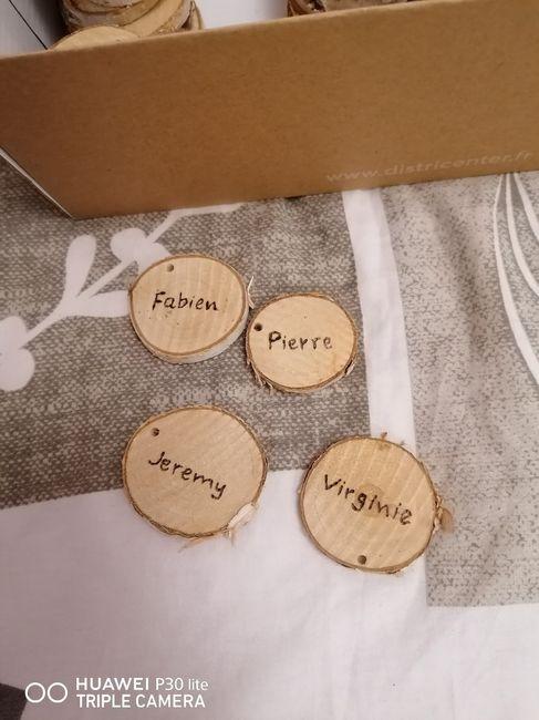 Porte prénom sur les tables 1