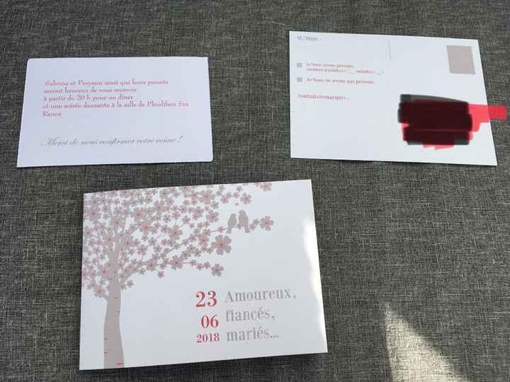 verso faire-part, carton réponse, invitation dîner