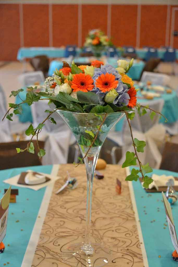 Les fleurs des tables invités