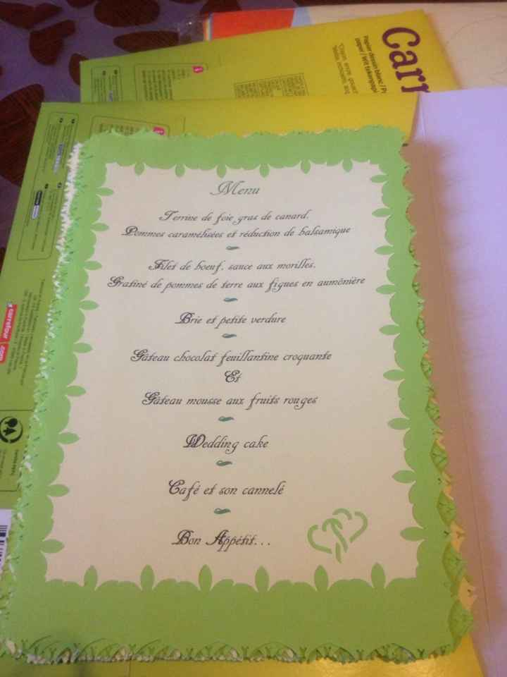 Mes menus ....