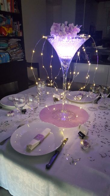 Essai de décoration de table! Qu'en pensez vous? 1