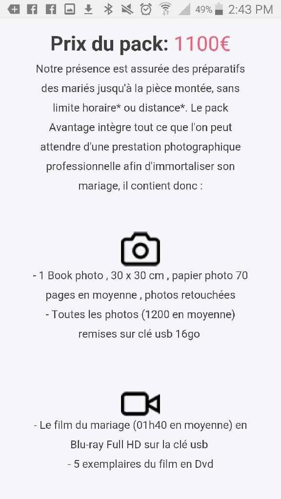 Prix des prestataire ( photographe) - 3