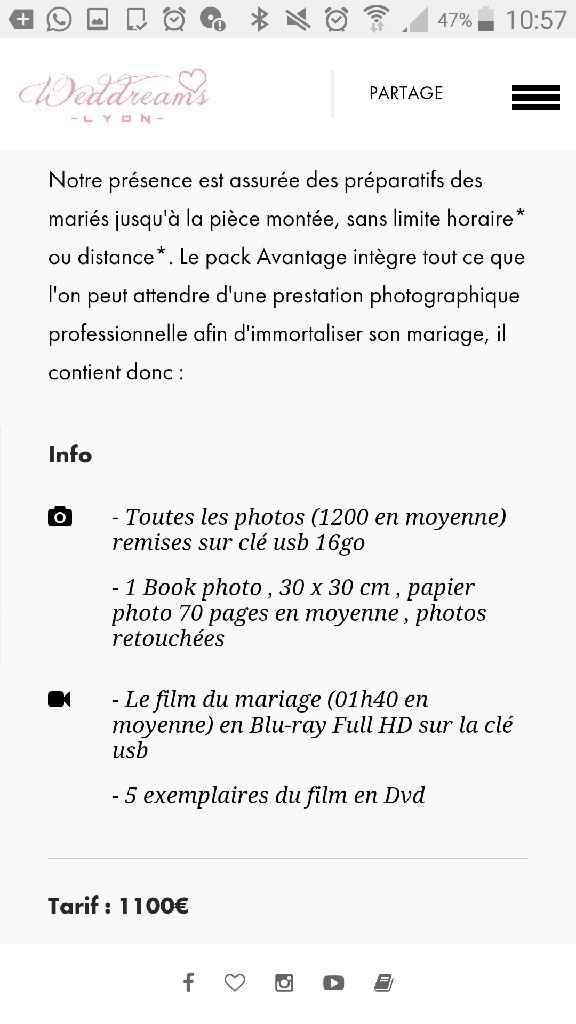 Quel prix pour un photographe ? - 1