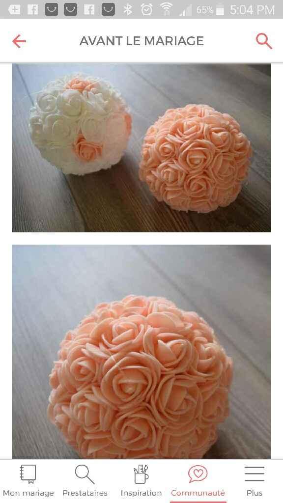 Help please ! boules de fleurs pour cérémonie - 1