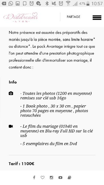 quel prix pour un photographe organisation du mariage forum. Black Bedroom Furniture Sets. Home Design Ideas