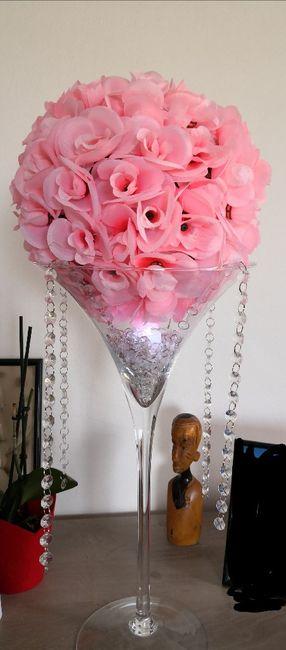 Boules roses artificielles 2