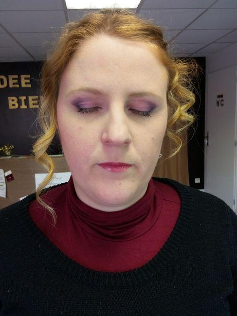 Essai maquillage + coiffure 6