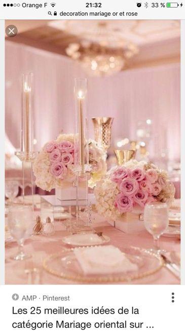 Décoration or et rose , 1